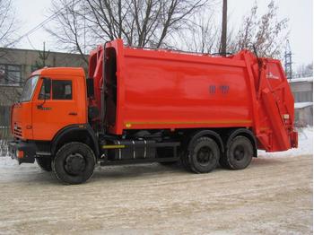 МУСОРОВОЗ КО-427-80 НА ШАССИ КАМАЗ-65115 – фото 1