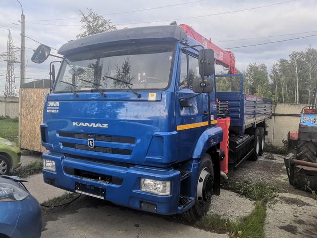Бортовой КАМАЗ 65117 с КМУ KANGLIM KS 1256 G – фото 5