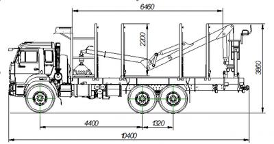 Сортиментовоз с VM10L86 на шасси КАМАЗ 6580-3051-68 площадка VLT-3.00.000 – фото 2