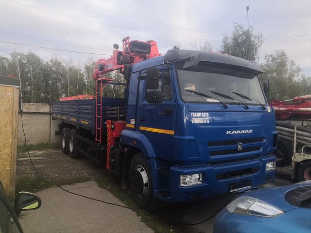 Бортовой КАМАЗ 65117 с КМУ KANGLIM KS 1256 G – фото 4