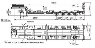 Полуприцеп ЧМЗАП 99903 по спецификации 032-МТ – фото 2