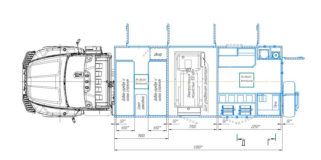 Агрегат ремонтно-сварочный (АРС) на шасси УРАЛ-4320 (NEXT) – фото 8