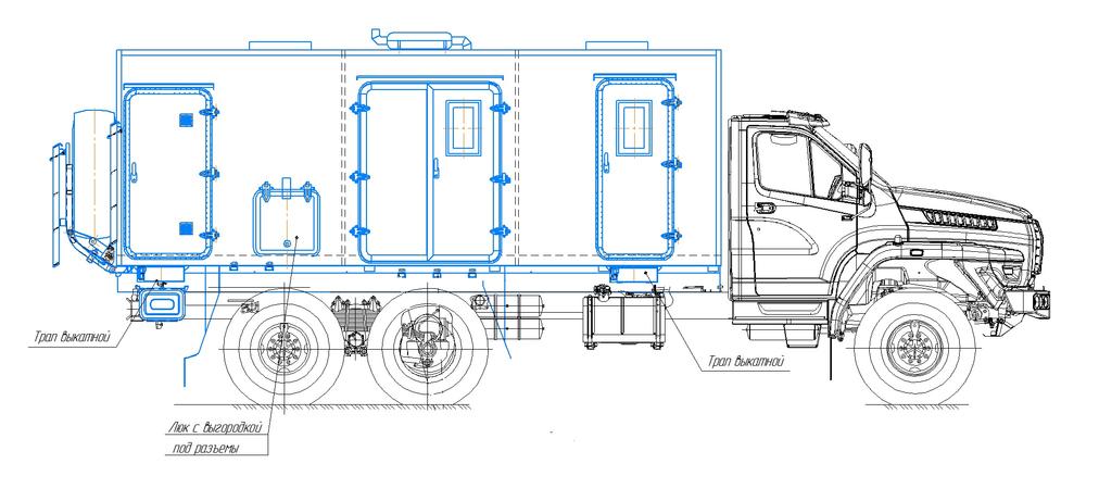 Агрегат ремонтно-сварочный (АРС) на шасси УРАЛ-4320 (NEXT) – фото 7