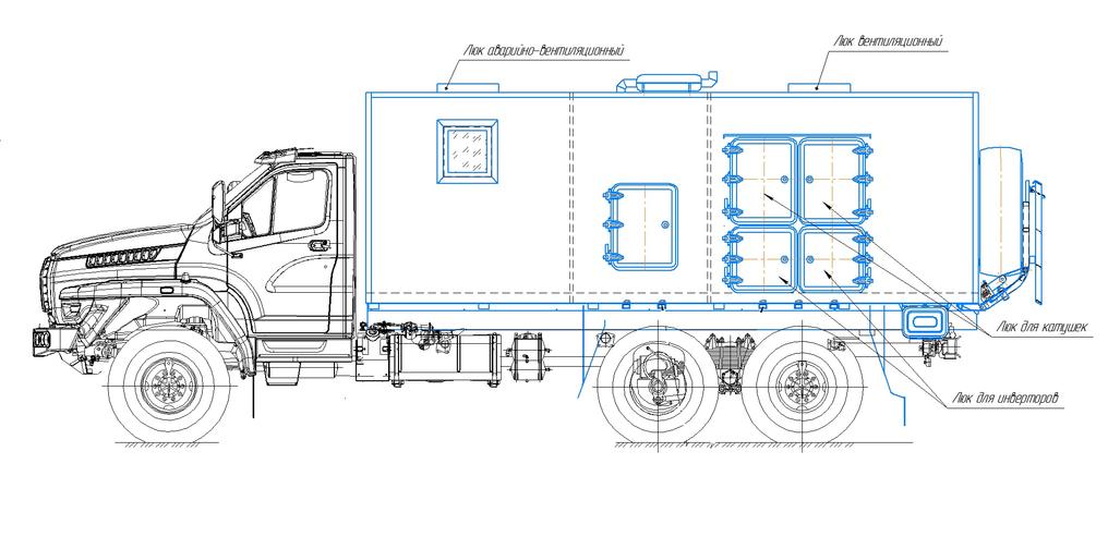 Агрегат ремонтно-сварочный (АРС) на шасси УРАЛ-4320 (NEXT) – фото 5