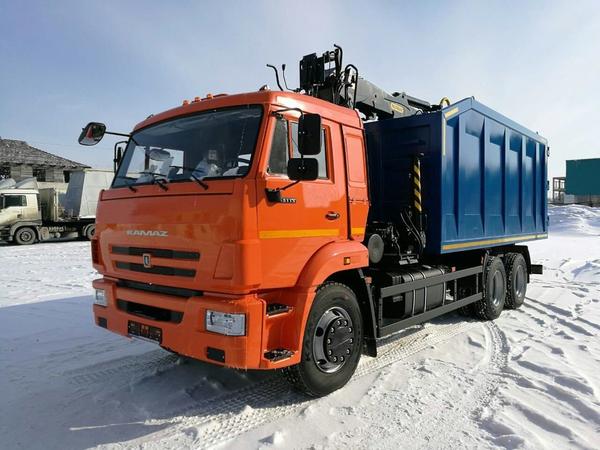 Ломовоз с КМУ VM10L74M на шасси Камаз-65115-48 – фото 2