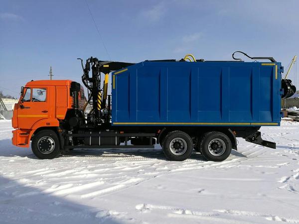 Ломовоз с КМУ VM10L74M на шасси Камаз-65115-48 – фото 3