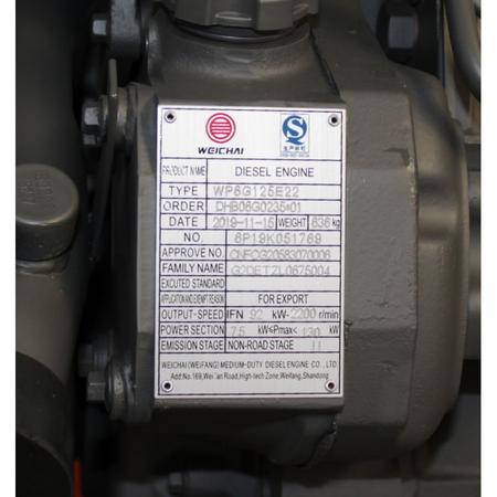 Двигатель WEICHAI   WP6G125E22  2019 – фото 3