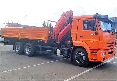КМУ PALFINGER РК-15500А на тягаче КАМАЗ 65115-3094-50 с передними поворотными опорами – фото 2