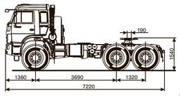 Седельный тягач КАМАЗ 53504-6013-50 – фото 2