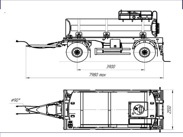 Цистерна для перевозки светлых нефтепродуктов прицеп цистерна ПЦ-11.2 для нефтепродуктов – фото 2