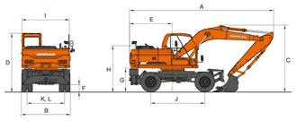 Экскаватор DX160W – фото 3