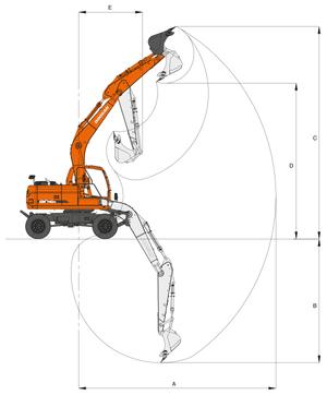 Экскаватор DX160W – фото 4