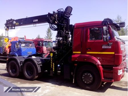 Седельный тягач КАМАЗ 65116 с КМУ HIAB 190T (ЕВРО 5) новый – фото 1