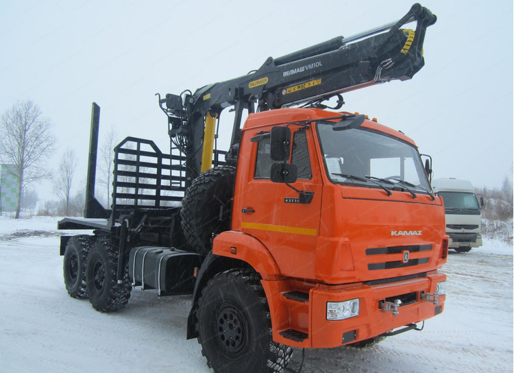 Сортиментовоз тягач КАМАЗ 43118 (Бегунок, Батыр), без гидроманипулятора, площадь 6,2 метра, 4 пары коников – фото 1