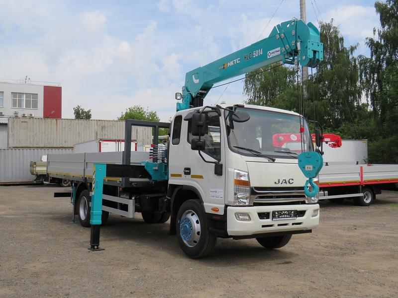 Кран-манипулятор 5 тонн на шасси КАМАЗ 43253/JAK с КМУ HKTC HLC5014M – фото 3
