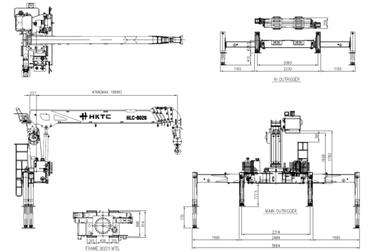 Кран-манипулятор  с кму КамАЗ-43118 Евро-5 с КМУ  EVERDIGM HKTC HLC-8026а Корея. Стальная платформа 6,2м. Передние и задние раздвижные аутригеры в комплекте буровым оборудованием. – фото 9