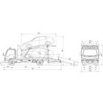 Эвакуатор-автовоз двухуровневый Шасси ISUZU-FSR90SL-NCUS – фото 1